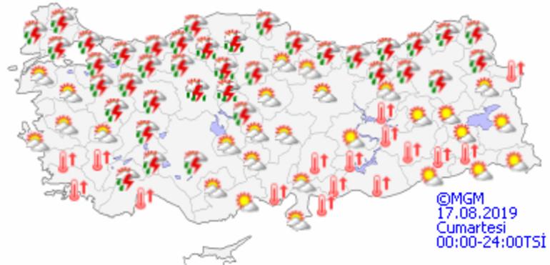 İstanbulda sıcaklıklar azalıyor Hava durumu Cuma günü nasıl olacak