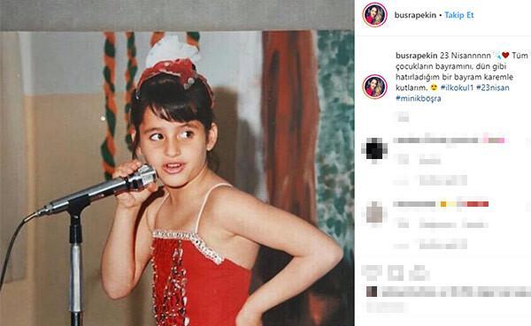 Büşra Pekinin gençlik fotoğrafı olay oldu