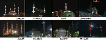 81 ildeki 90 bin camide şehitler için sela okundu