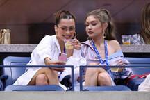 Gigi Hadid ve Bella Hadid, Serena Williams'ın maçını izledi!