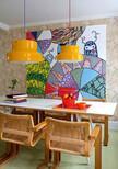 Renkli yemek odası dekorasyonları
