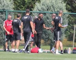 Beşiktaş'ın idmanında eski G.Saraylı! Hasret giderdi...