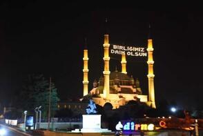 Tüm Türkiye'de sela Selimiye'den okundu