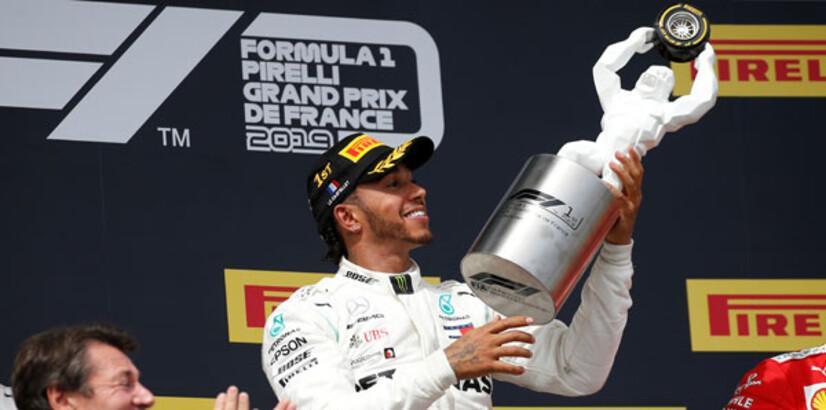 Fransa'da ilk sıra Hamilton'ın