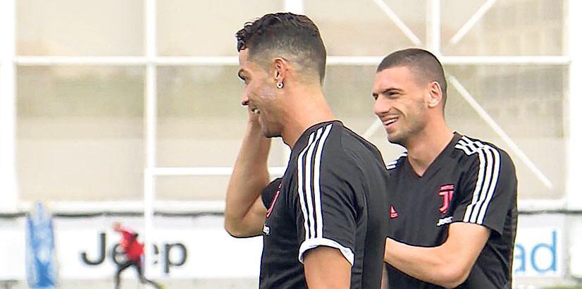 Merih, Ronaldo ile buluştu