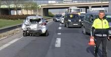 TEM'de zincirleme kaza; trafik durma noktasına geldi