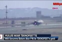 Bakan Hulis Akar F16 ile TEKNOFESTe geldi