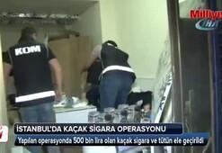 Kaçak sigara imalathanesine polis baskını