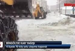 Bingöl'de kar 70 köy yolunu ulaşıma kapattı