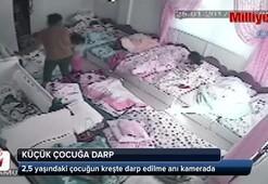 2,5 yaşındaki çocuğun kreşte darp edilme anı kamerada