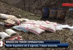 Bingölde terör örgütüne ait 2 sığınak, 1 depo bulundu
