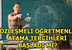 Sözleşmeli öğretmenlik tercihleri ne zaman yapılacak Atama sonuçları...