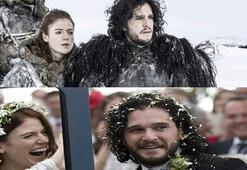 Game of Thronesun yıldızları evlendi