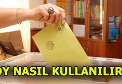 Oy nasıl kullanılır Oy kullanırken nelere dikkat edilir Oy verme saatleri...(24 Haziran)