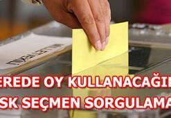 Nerede oy kullanacağım YSK seçmen sorgulama sayfası erişime açıldı