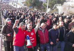 Metal işçilerinin grevi başladı