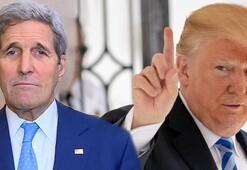 Trumptan Kerryye çok sert tepki: Bu pisliği yaratan kişi