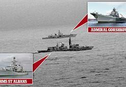 Son Dakika: Rus savaş gemisi İngiliz sularında Şok fotoğraflar...