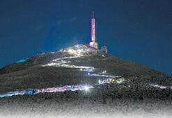 1883 metrelik zirveye 'Fenerli Gece Yürüyüşü'