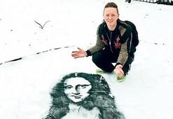 Kar üstünde resim sanatı