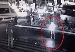 El yapımı patlayıcıyı caddeye atıp kaçtı