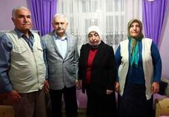 Başbakan Yıldırımdan şehit ailesine ziyaret