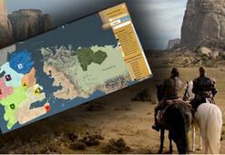 Game of Thrones için özel harita