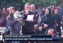 CHPnin meclis üyesi adayı, Öcalana özgürlük istemiş