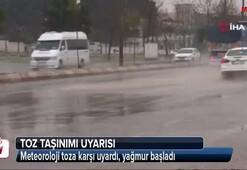 Meteoroloji toza karşı uyardı, yağmur başladı