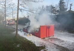 Seyir halindeyken yanmaya başladı Diğer sürücüler uyarınca…