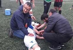 Futbolcusu ölümden döndü, başkan gözyaşlarını tutamadı