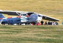 Son dakika... Almanyada uçak kazası