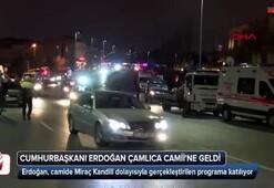 Cumhurbaşkanı Erdoğan Çamlıca Camiinde