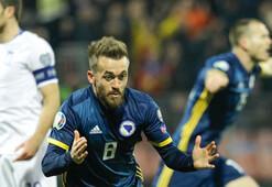 Edin Viscanın golü Bosna Herseke yetmedi