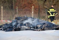 Almanyada küçük uçak düştü