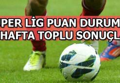 Süper Lig puan durumu | Süper Lig 29. hafta toplu sonuçları