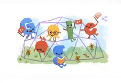 Googledan 23 Nisan sürprizi 23 Nisan Ulusal Egemenlik ve Çocuk Bayramı doodle oldu