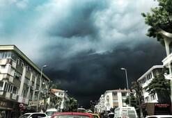İstanbulda dolu sürprizi... Bir anda bastırdı, sığınacak yer arattı