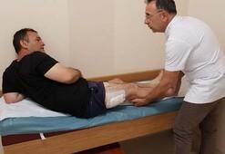 Doktorlar bile şok oldu Motosikletin ayaklığı bacağına girdi...
