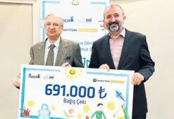 Çocuklara 2 milyon TL bağış
