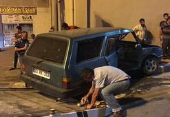 Kazayı sosyal medyadan canlı yayınladı