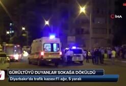 Diyarbakır'da trafik kazası:1'i ağır, 5 yaralı