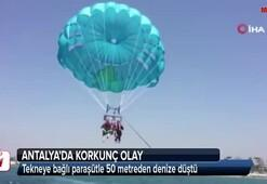 Antalyada korkunç olay 50 metreden suya çakıldı