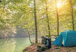 Ucuz tatil formülü çadır veya karavan