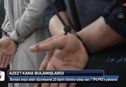 Azez'i kana bulayan teröristler yakalandı