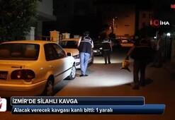 İzmir'de alacak verecek kavgası kanlı bitti: 1 yaralı