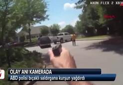 ABD polisi bıçaklı saldırgana kurşun yağdırdı