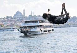 Karaköy'de serinlediler