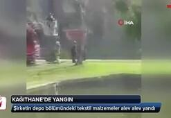Kağıthane'de tekstil şirketinde korkutan yangın