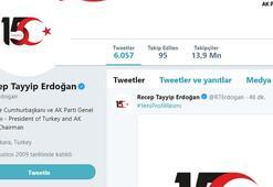 Erdoğandan sosyal medyada 15 Temmuz vurgusu